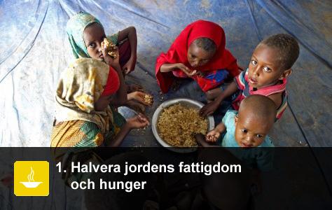 Måltid i ett flyktingläger för Somalier som flytt till Etiopien