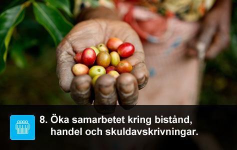 Kaffe är en stor exportvara för många utvecklingsländer. UN/Photo Martine Perret