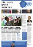 Bild på tidningen Världens bästa nyheter som producerades inför FN-dagen 2011.