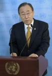 FN:s generalsekreterare Ban Ki-moon. UN/Photo, Evan Schneider.