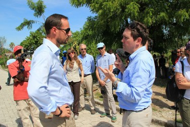 UNDP'S GOODWILL AMBASSADOR CROWN PRINCE HAAKON AND H. E. MR. HEIKKI HOLMÅS VISITED SEVERAL SITES IN THE SOUTHERN REGION OF HAITI AND IN THE CAPITAL PORT-AU-PRINCE