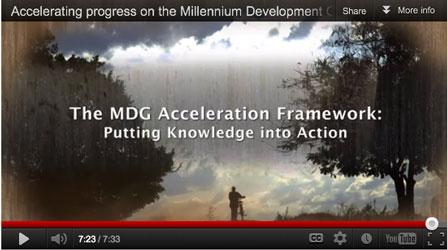 Se UNDP:s film om hur vi påskyndar arbetet med att nå millenniemålen.