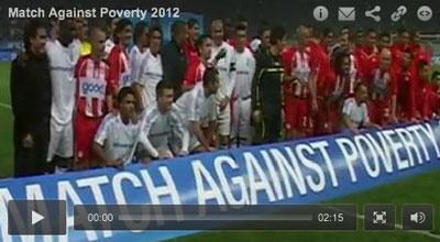 """Ronaldo, Zidane, Drogba och Samuel Eto'o är några av de världsberömda fotbollsspelare som ställer upp i """"Match Against Poverty 2012"""". Syftet med matchen, som äger rum för tionde året i rad, är att få fler människor att ansluta sig i kampen mot världsfattigdomen."""