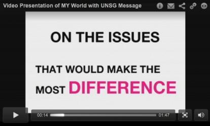 Var med och rösta fram nästa globala utvecklingsmål i FN:s opinionsundersökning My World.